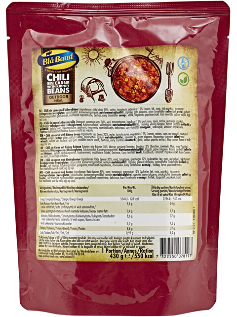 Bla Band Outdoor Meal Chili sin Carne with Kidney Beans 430g